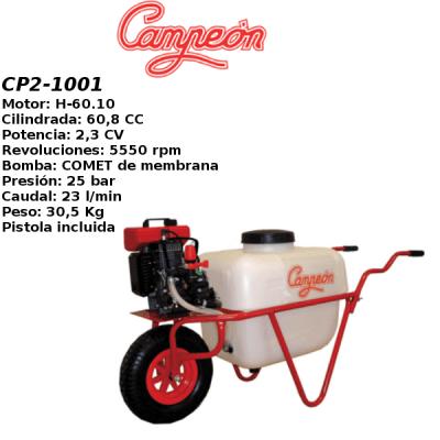 Carretilla sulfatadora Campeon CP2-1001