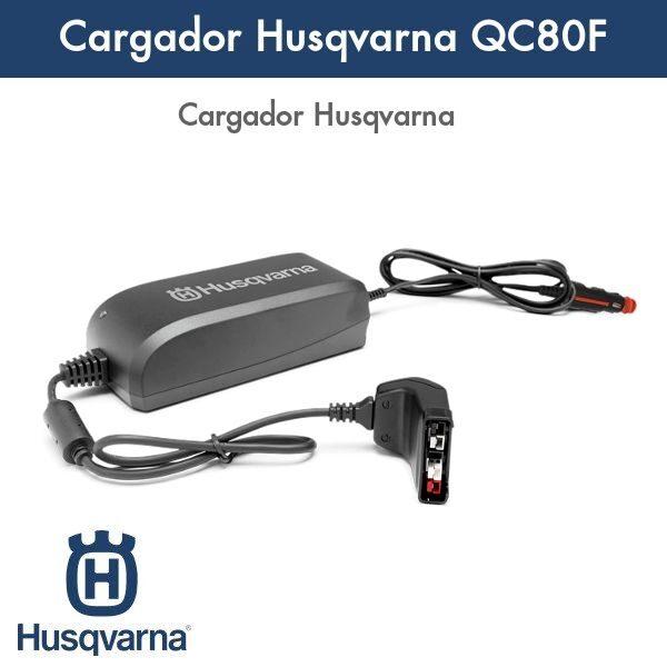 Cargador Husqvarna QC80F coche