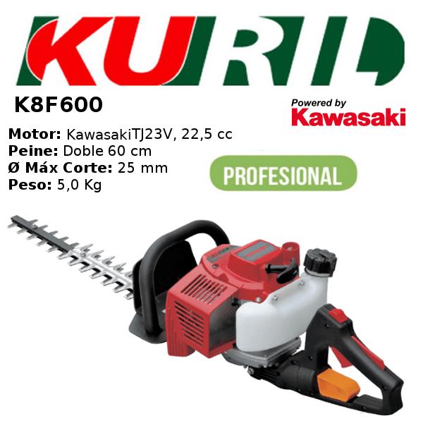 Cortasetos Gasolina Kuril K8F600 Motor Kawasaki