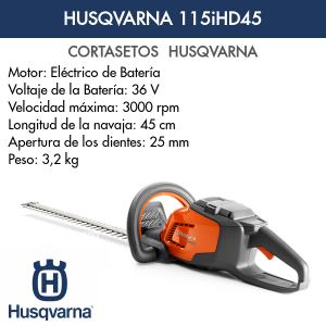 Cortasetos Husqvarna 115iHD45