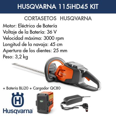 Cortasetos Husqvarna 115iHD45 KIT