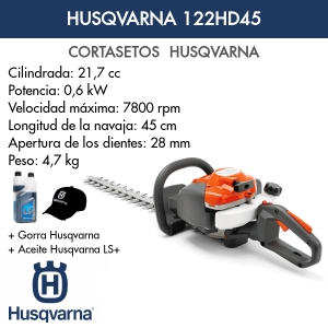 Cortasetos Husqvarna 122HD45