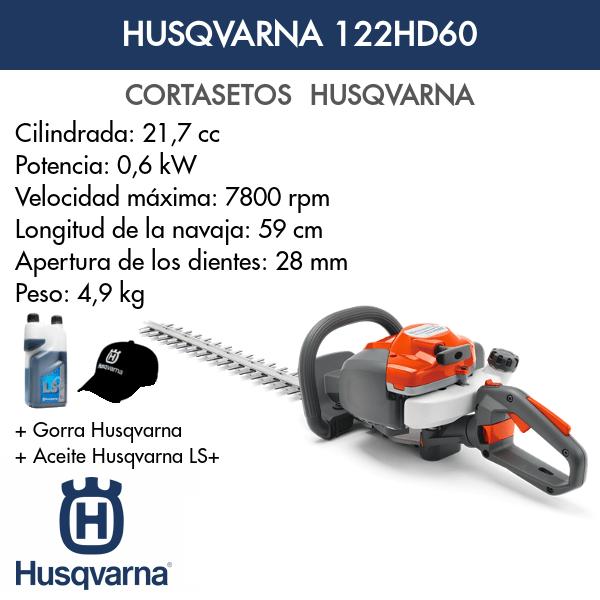 Cortasetos Husqvarna 122HD60