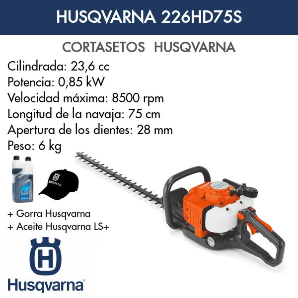 Cortasetos Husqvarna 226HD75S