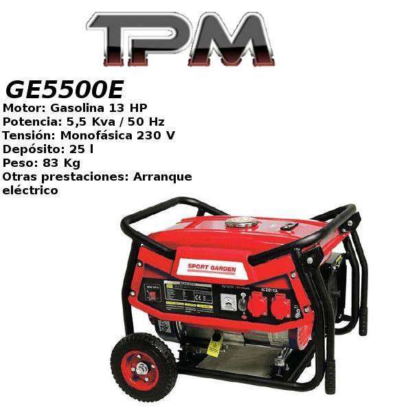 Generador eléctrico TPM GE5500E