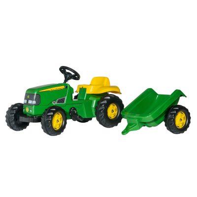 Tractor John Deere con remolque