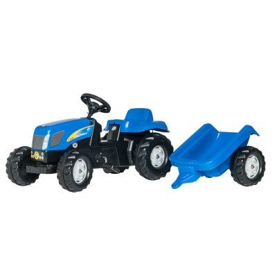 Tractor New Holland con remolque