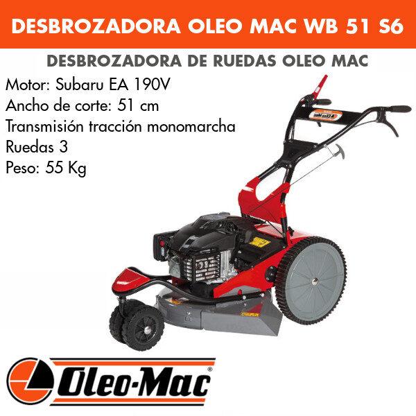 Desbrozadora de ruedas Oleo-mac WB 51 S6