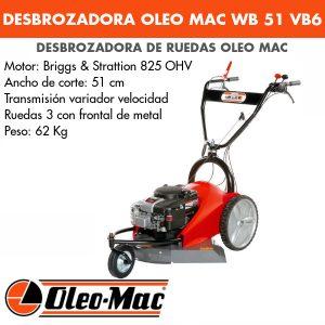 Desbrozadora de ruedas OM WB 51 VB6