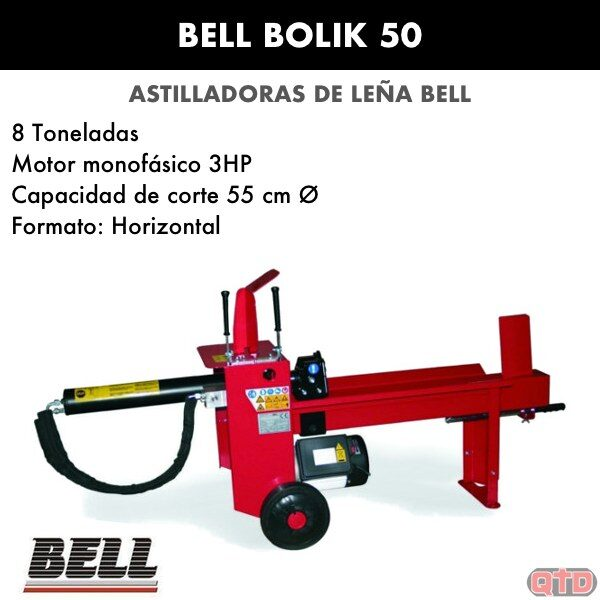 astilladora de leña bell bolik 50