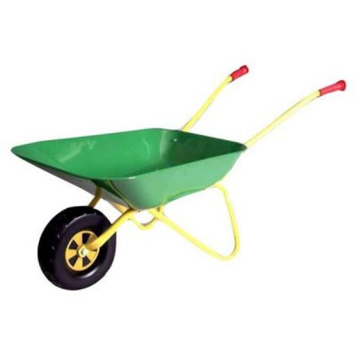 Carretilla metálica infantil agrícola de juguete