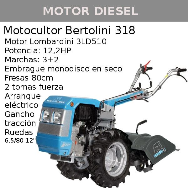 Motocultor bertolini 318