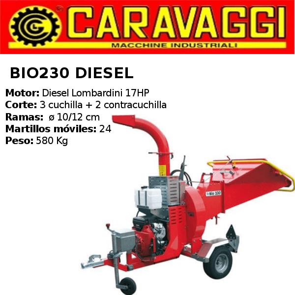 triturador-caravaggi- bio230 Diesel