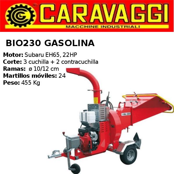 triturador-caravaggi- bio230 Gasolina
