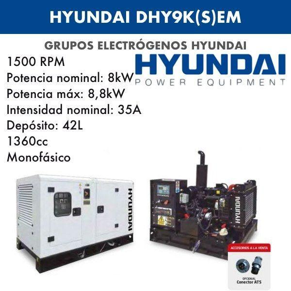 Generadores Hyundai DHY9K(S)Em diesel monofásicos