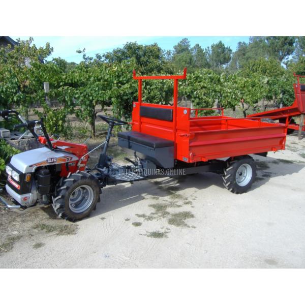 Remolque forestal Agro para motocultor con basculante hidraulico2_2