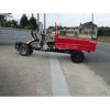 Remolque motocultor con basculante hidráulico rojo