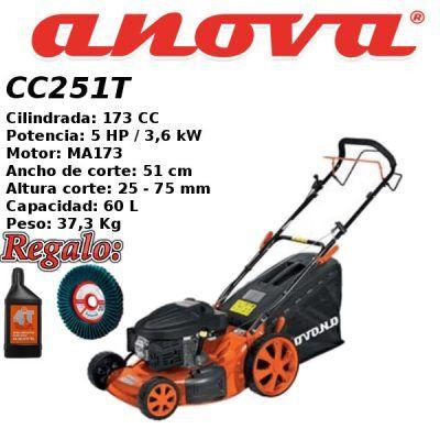 Cortacesped gasolina Anova CC251T