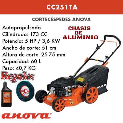 Cortacesped gasolina Anova CC251TA