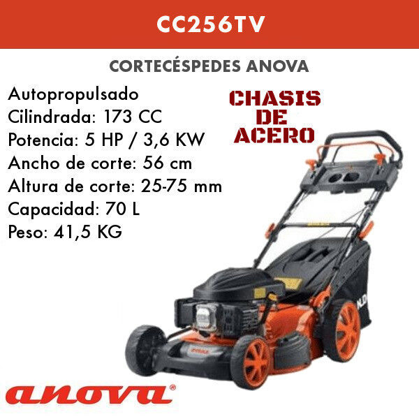 Cortacésped Anova CC256TV