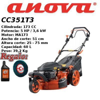 Cortacesped gasolina Anova CC351T3