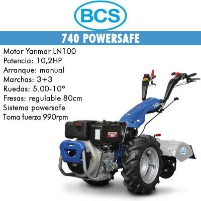 Motocultores diesel BCS 740 Yanmar