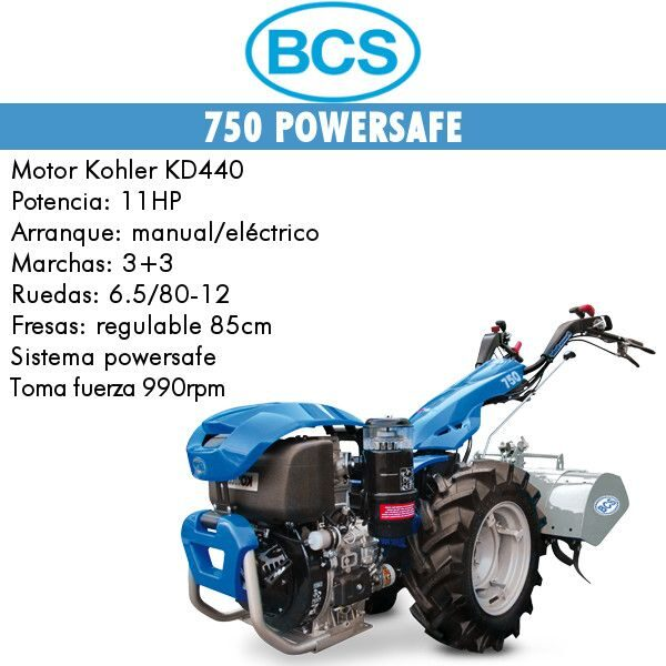 Motocultores BCS 750 arranque manual