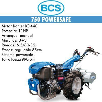 Motocultores BCS 750 arranque manual