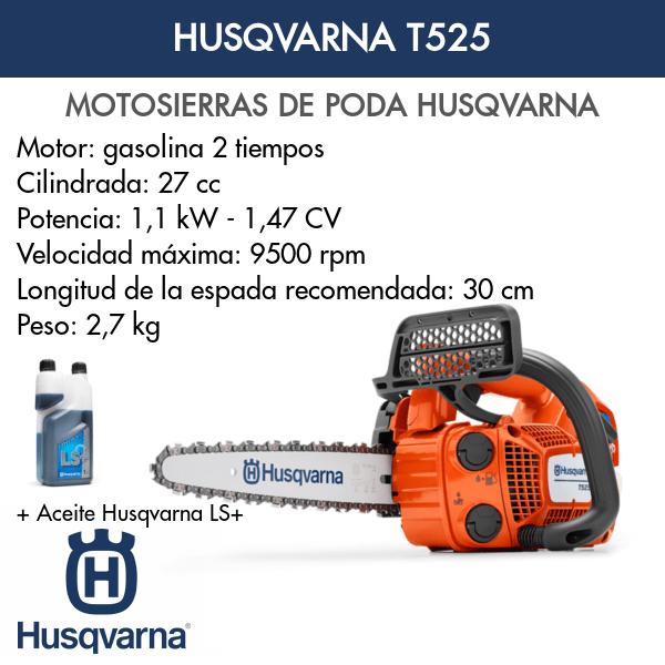 Motosierra Husqvarna de poda T525