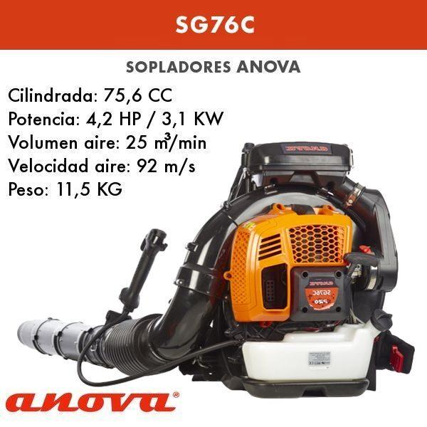Soplador gasolina Anova SG76C