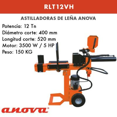 Astilladora de leña Anova RLT12VH