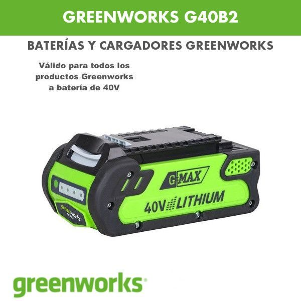 Batería greenworks G40B2