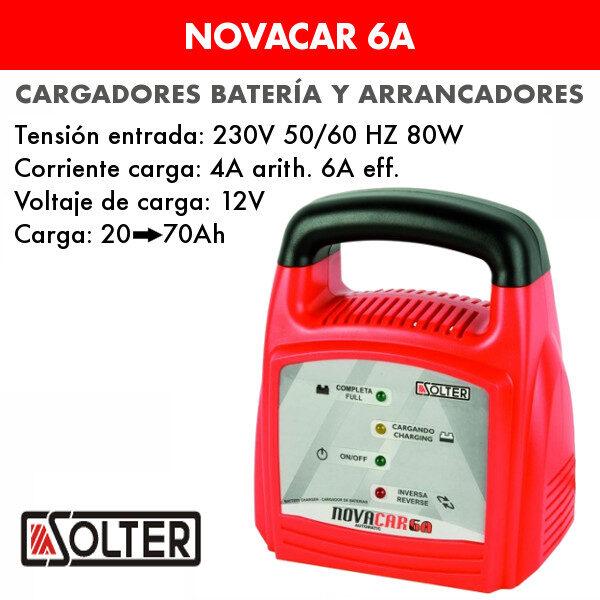 Cargador de baterías Solter Novacar 6A