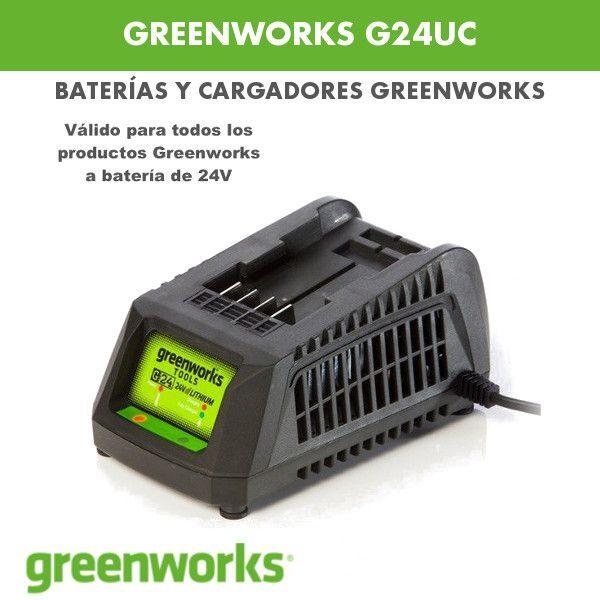 cargador greenworks g24uc