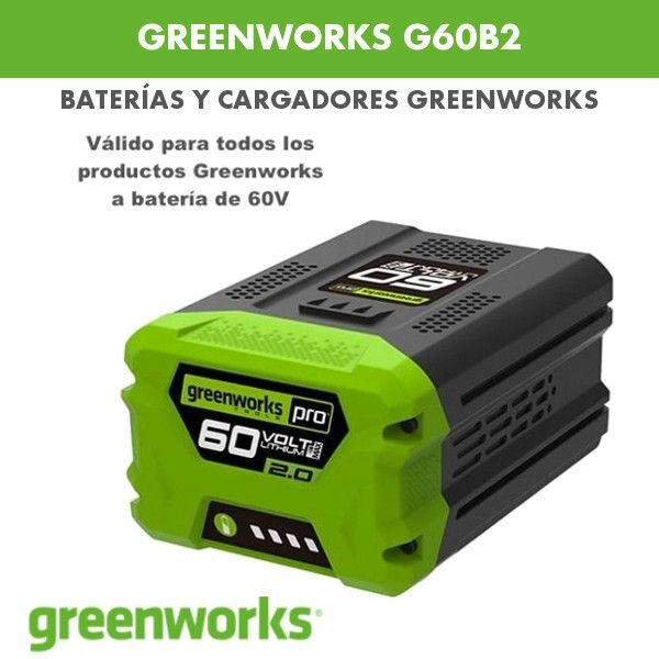 Cargador greenworks G60B2