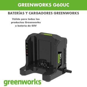 Cargador greenworks G60UC