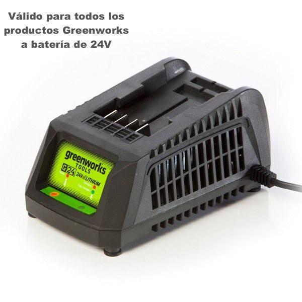 cargador universal greenworks g24uc