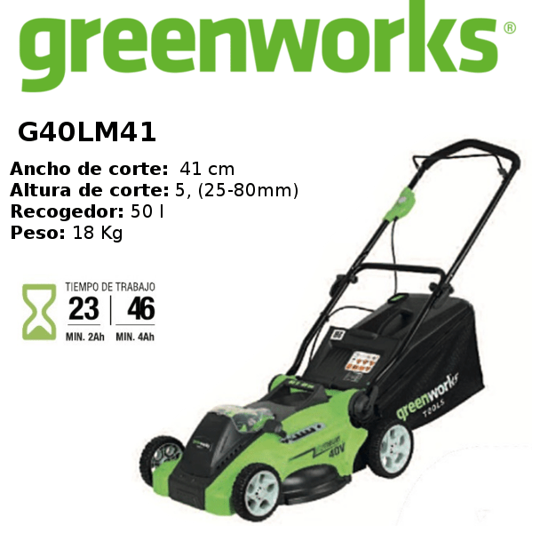 cortacésped-greenworks- G40LM41