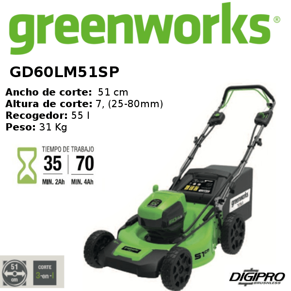 cortacésped-greenworks- GD60LM51SP