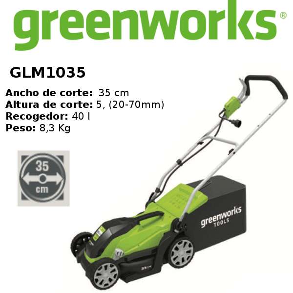 cortacésped-greenworks- GLM1035