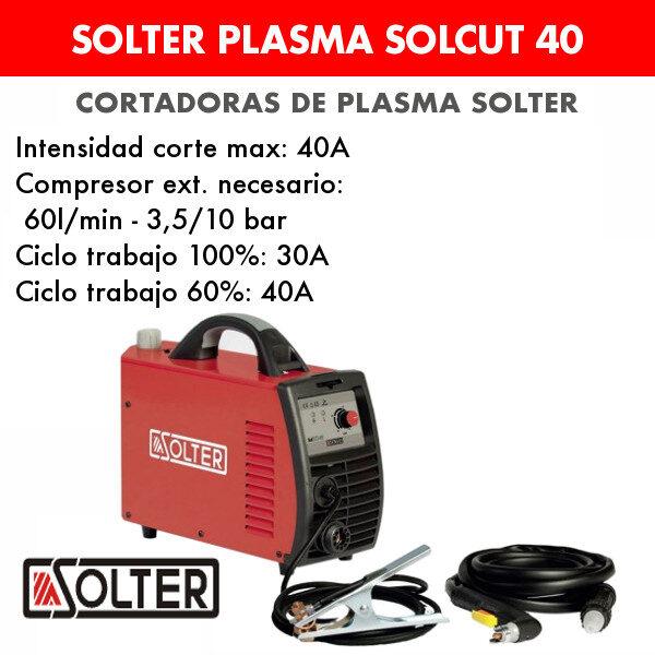 Cortadora de plasma Solter Solcut 40