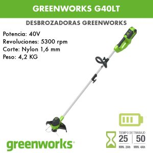 Desbrozadora batería Greenworks G40LT