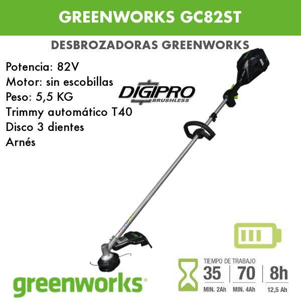 Desbrozadora batería Greenworks GC82ST