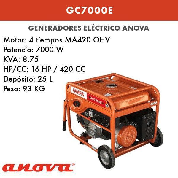 Generador electrico Anova GC7000E