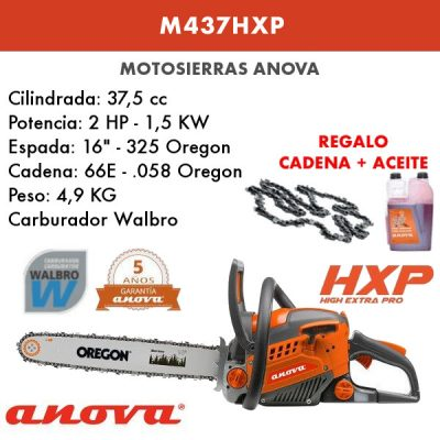 Motosierra Anova M437HXP