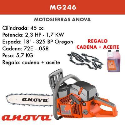 Motosierra Anova MG246 + cadena