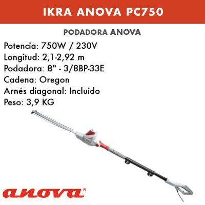 Podadora eléctrica Ikra Anova PC750