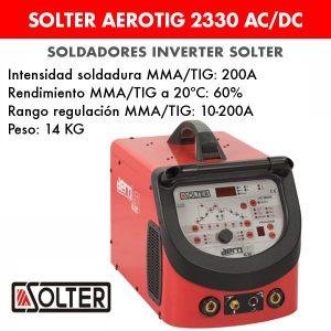 Soldador inverter Solter Aerotig 2330 AC/DC