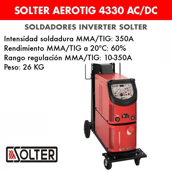 Soldador inverter Solter Aerotig 4330 AC/DC