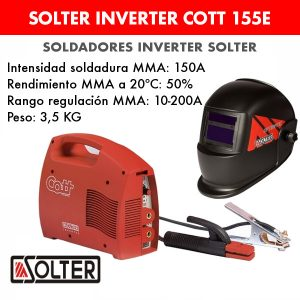 Soldador inverter Solter Cott 155E